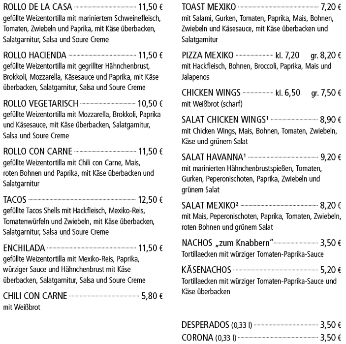 Mexikanische Woche - Kelterschänke Elsenfeld