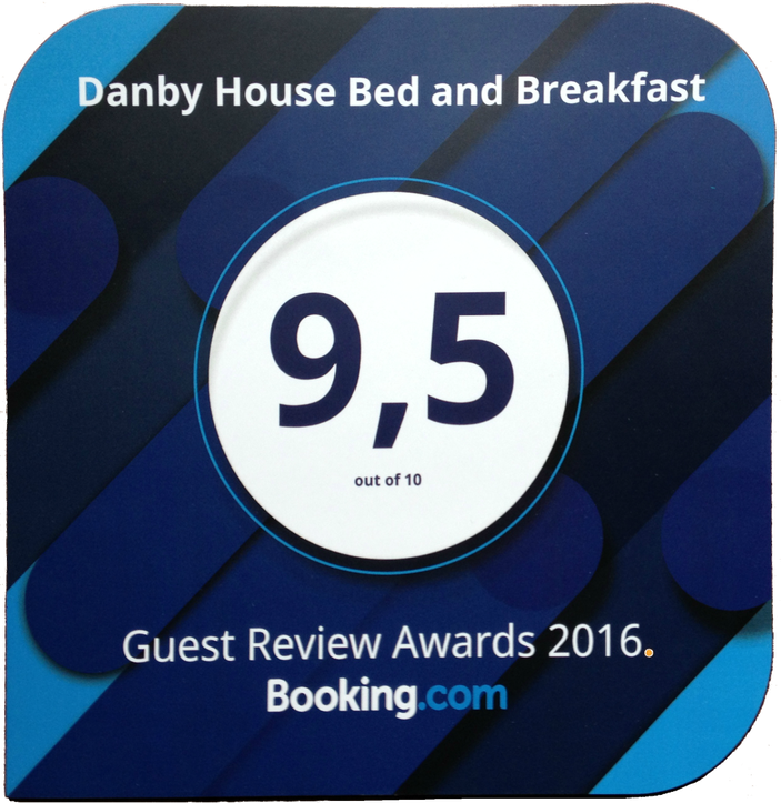 Danby House Bed and Breakfast is a recipient of the 2016 Guest Reveiw Award from Booking.com