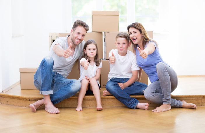 Diese Familie hat Ihr neues Zuhause gefunden.