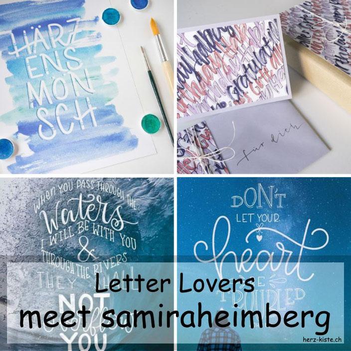 Letter Lovers - samiraheimberg zu Gast im Lettering Interview mit einer Anleitung zur Gestaltung eines Geschenksets