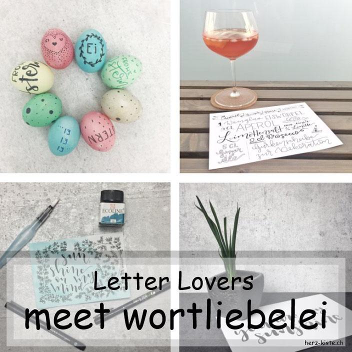 wortliebelei zu Gast im Letter Lovers Lettering Interview mit einer Anleitung für Lettering auf Ostereier