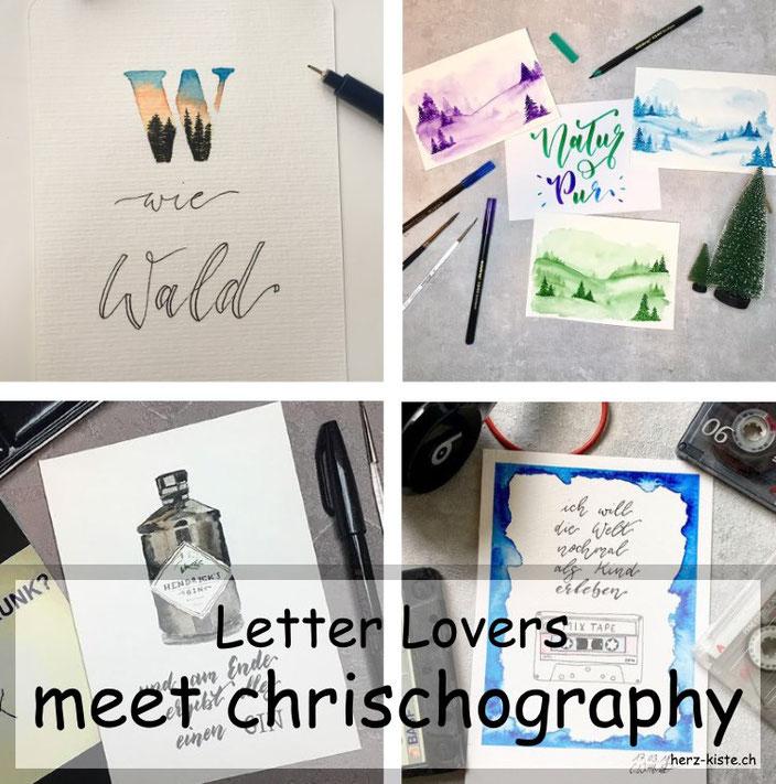Letter Lovers - chrischography zu Gast im Lettering Interview mit einer Anleitung für eine Illustration im Buchstaben