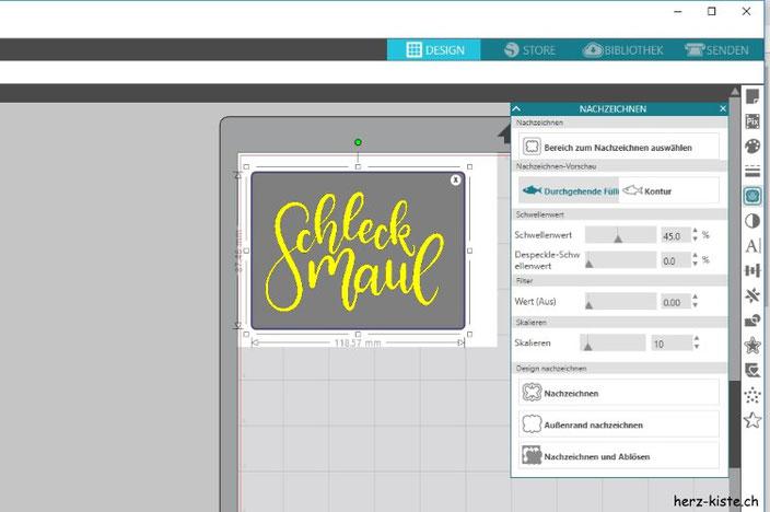 Eigenes Lettering digitalisieren und plotten - einfache Anleitung für Silhouette Studio