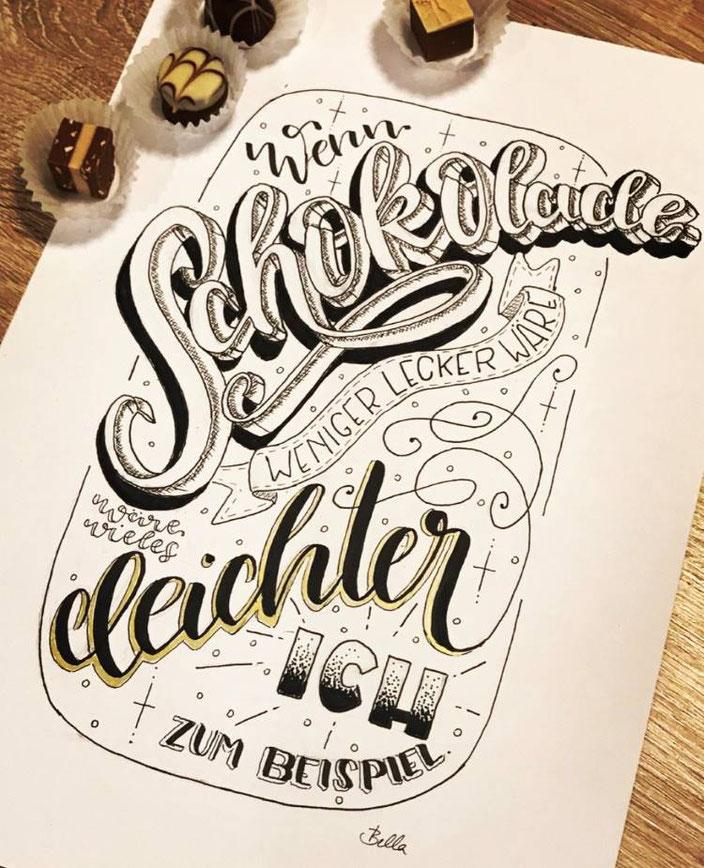 Lettering Anleitung: Wie du ein Layout für dein Lettering gestaltest und so tolle Sprüche mit Handlettering kreierst.
