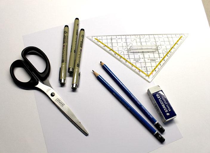 Handlettering Anleitung: gestalte eine optische Illusion mit dem Buchstaben E (Material)