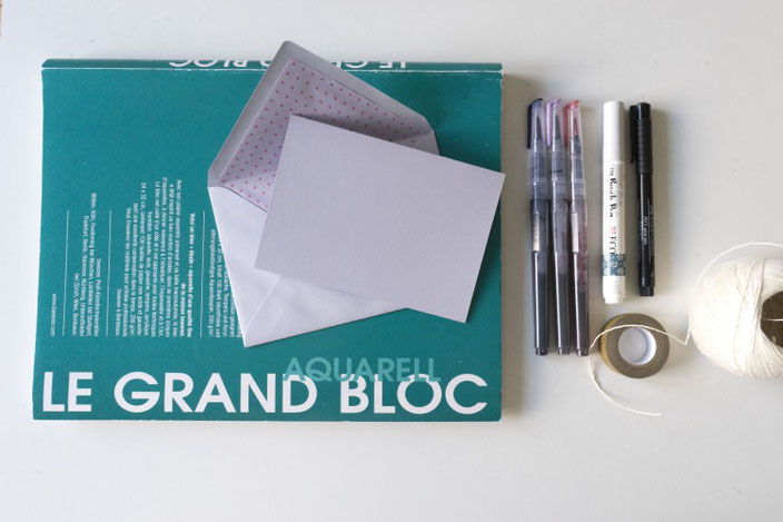 Material um ein einfaches Geschenkset mit Lettering zu gestalten