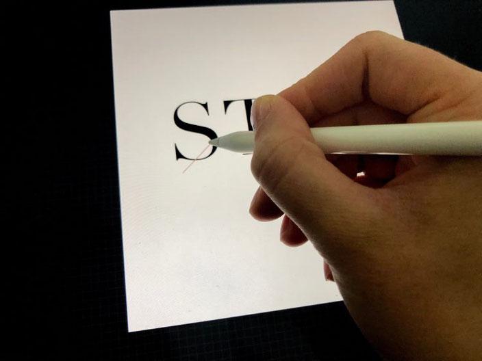 Anleitung für ein iPad Lettering mit einem Schriftzug