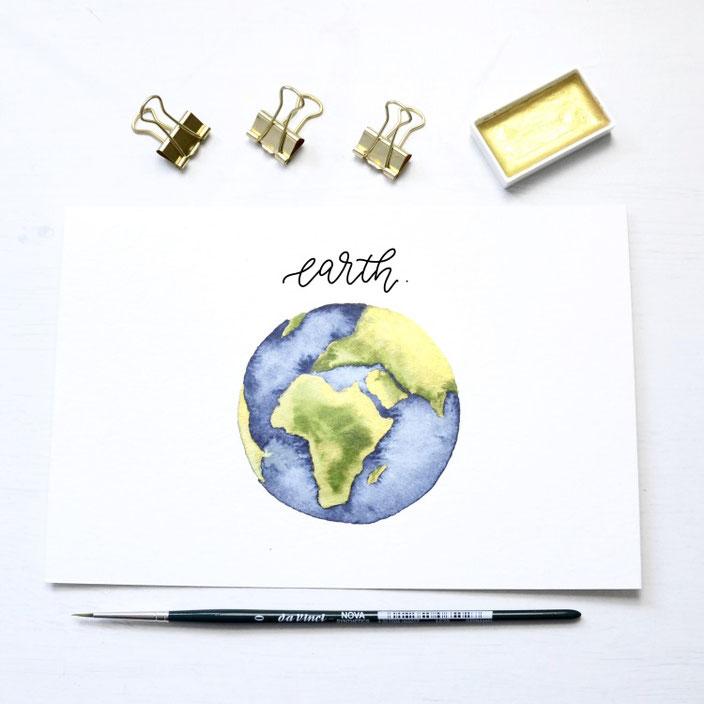 Kreafine Handlettering earth für die Letter Lovers