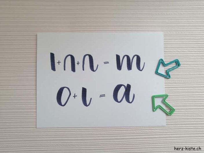 häufiger Lettering Fehler den Anfänger machen - Tipp zum lettern: Stift absetzen