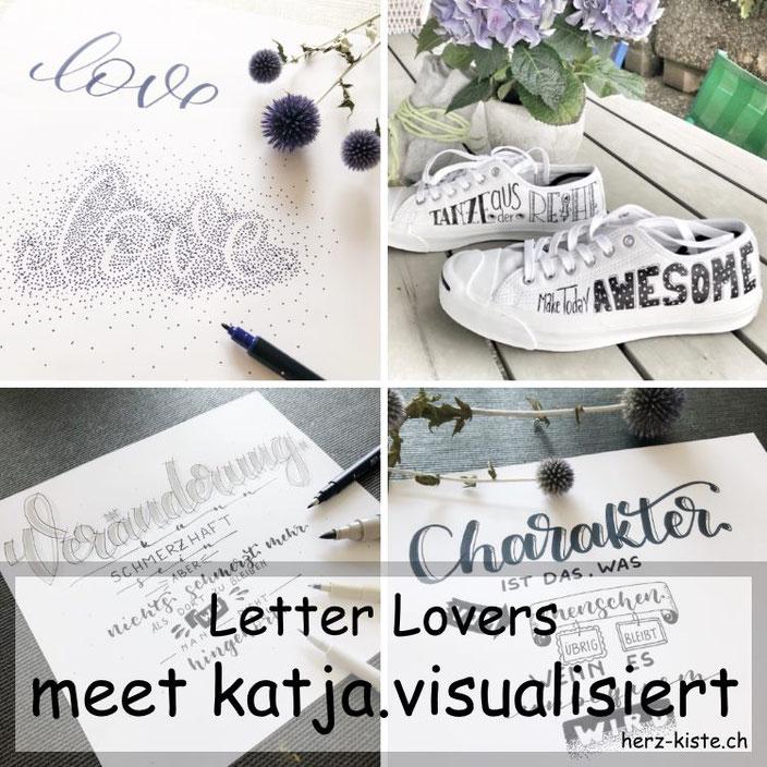 Letter Lovers: katja.visualisiert zu Gast im Lettering Interview mit einer Anleitung für ein Negativlettering