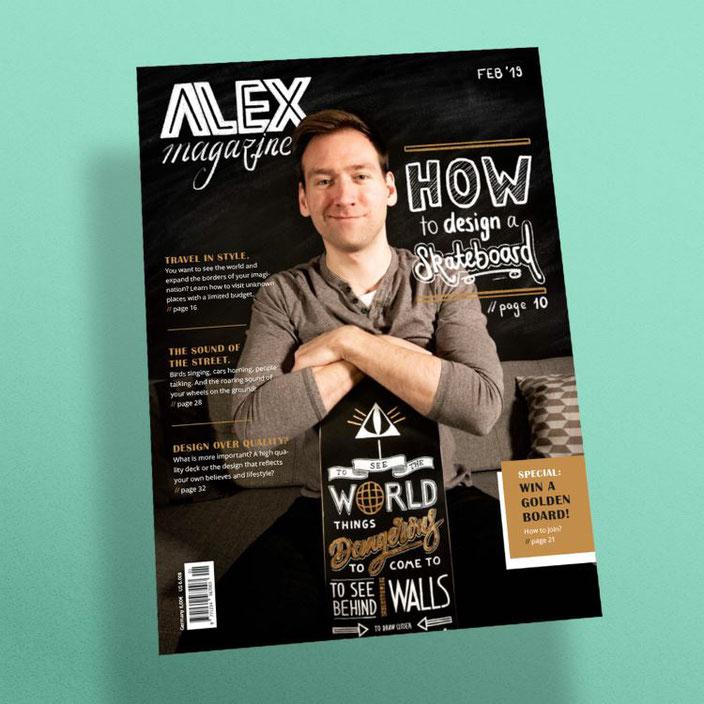 Handlettering Inspiration - ein eigenes Magazin Cover gestalten mit Handlettering (Cover von alexander_flemming bei den Letter Lovers)