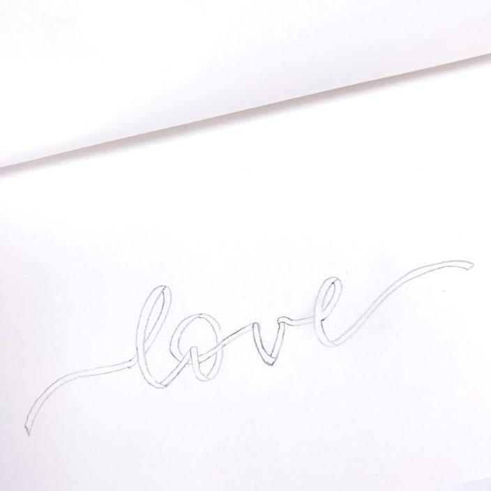 Anleitung für ein Ribbon Lettering - Schritt 4: ausarbeiten