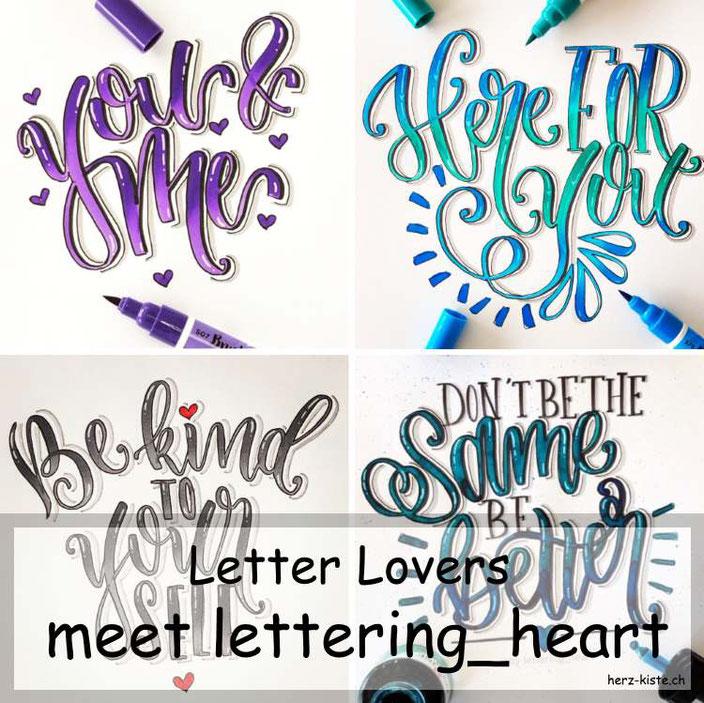 Letter Lovers - lettering_heart zu Gast im Lettering Interview mit einer Anleitung für eine einfache 5-Minuten Geburtstagskarte