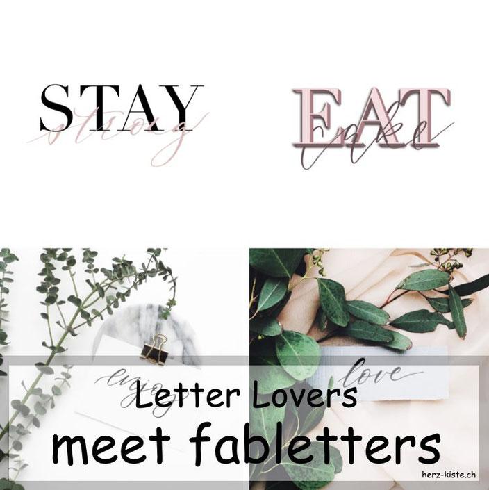 Letter Lovers - Fabletters zu Gast im Lettering Interview mit einer Anleitung fürs iPad Lettering in Procreate und Over