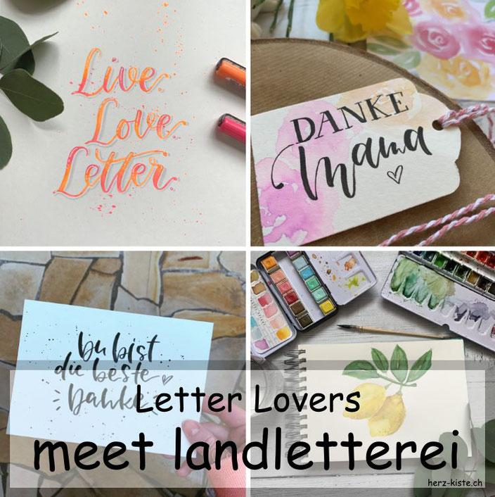Letter Lovers - landletterei zu Gast im Lettering Interview mit einer Anleitung für ein Blending mit Neon Stiften
