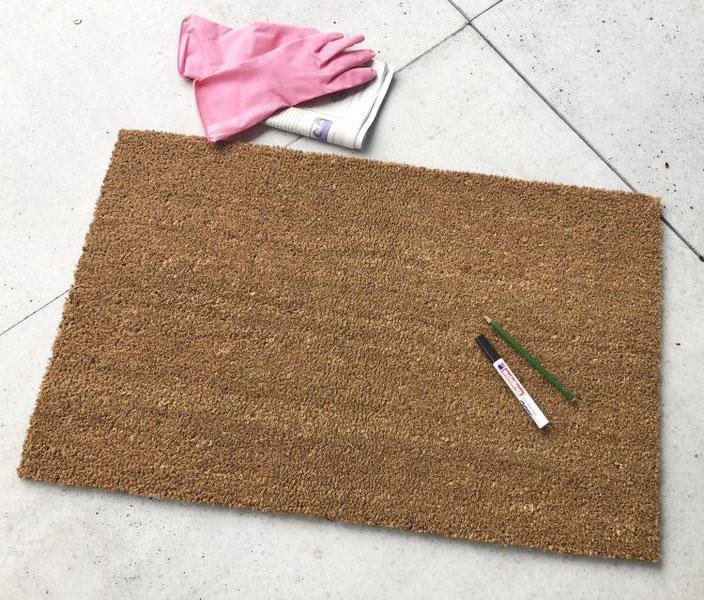 DIY Anleitung für eine Fussmatte belettern: dieses Material brauchst du