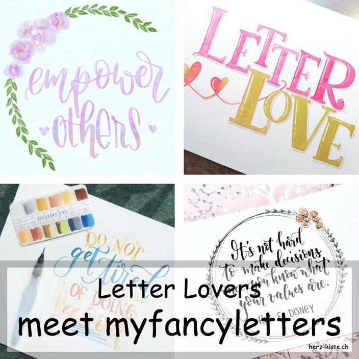 myfancyletters zu Gast im Lettering Interview bei den Letter Lovers mit einer Anleitung für Banner zeichnen