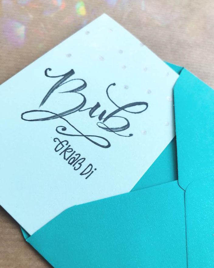 Handlettering: Buab griass di - Lettering von herzens.dame für die Letter Lovers