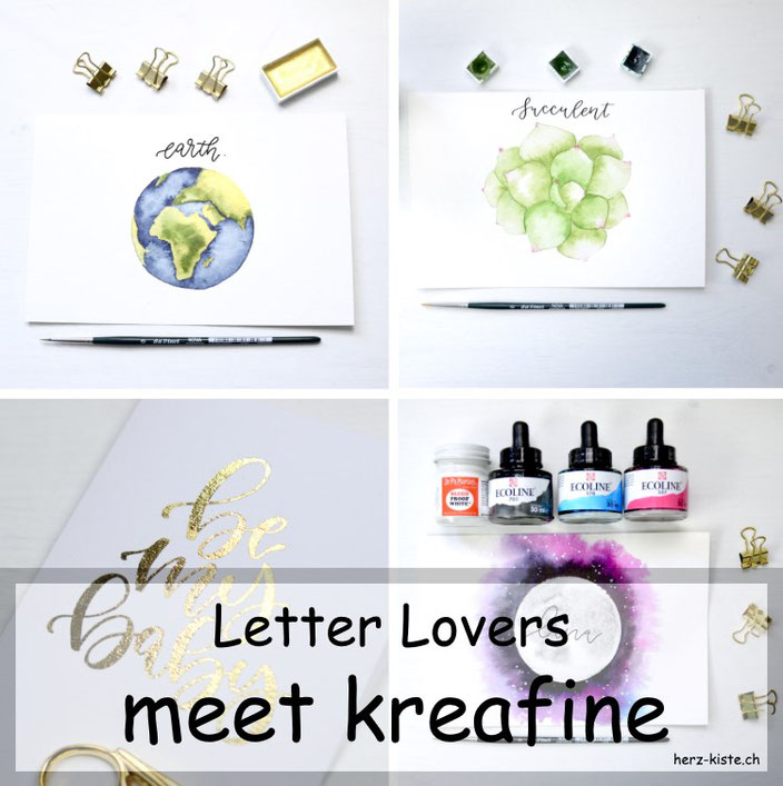Letter Lovers - kreafine zu Gast im Lettering Interview mit einer Anleitung zum Folieren