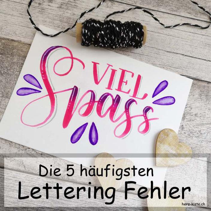 Handlettering - die 5 grössten Fehler, die Lettering Anfänger machen und wie du sie vermeiden kannst