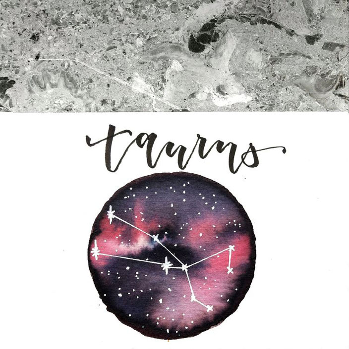 taurus - galaxy lettering von lisa_pisa_lettering bei den Letter Lovers