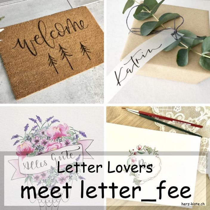 letter_fee zu Gast im Handlettering Interview mit einer Anleitung für eine Fussmatte belettern
