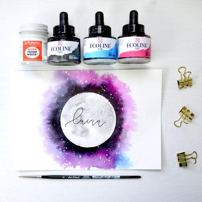 luna - Lettering von kreafine für die Letter Lovers