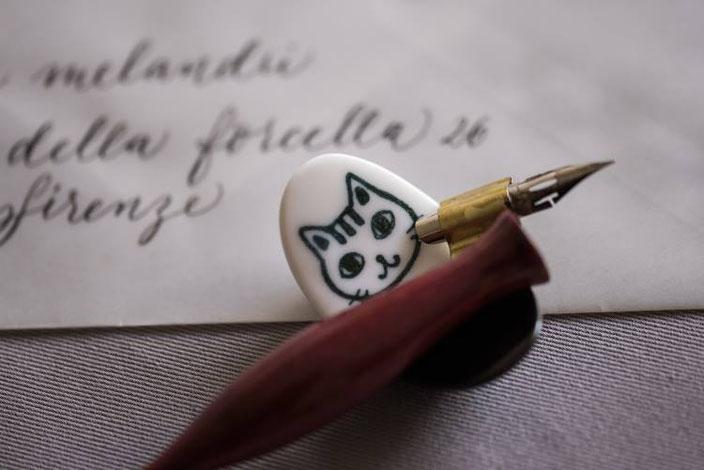 Oblique Federhalter aus Holz - Tintenfuchs (bei den Letter Lovers)