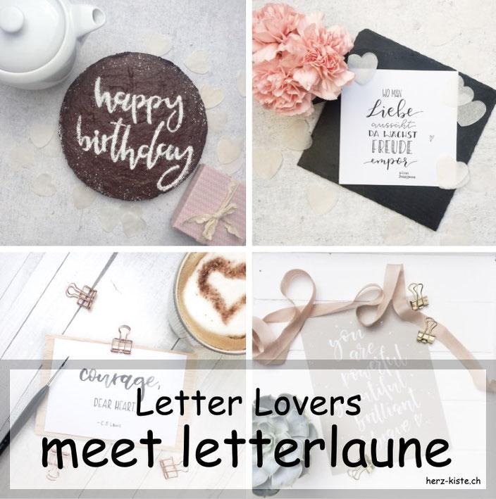 Laura von letterlaune zu Gast bei den Letter Lovers im Lettering Interview mit einer Anleitung für einen personalisierten Geburtstagskuchen mit Handlettering.
