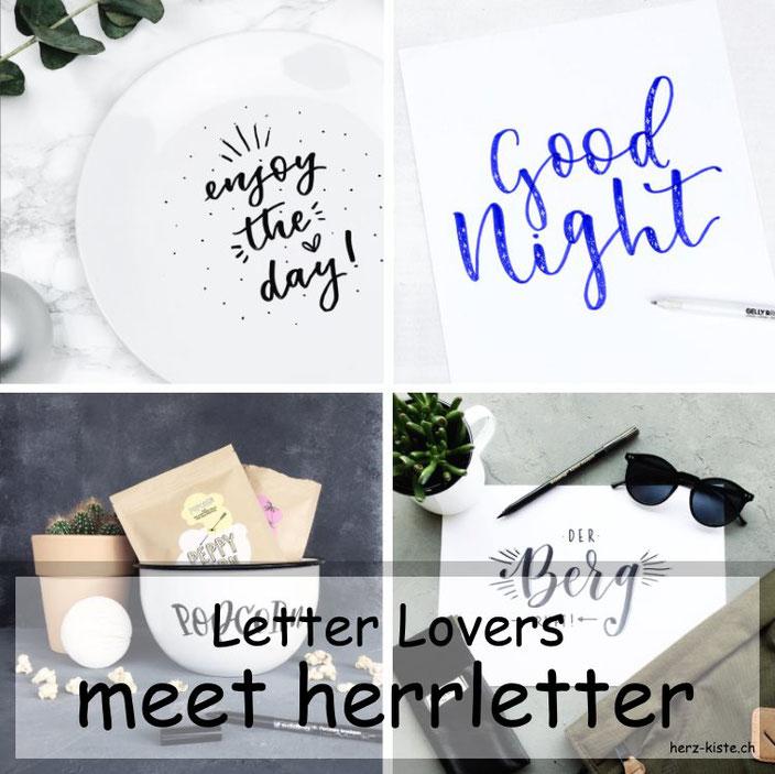Letter Lovers - herrletter zu Gast im Lettering Interview mit einer Anleitung für den Sternchen Effekt