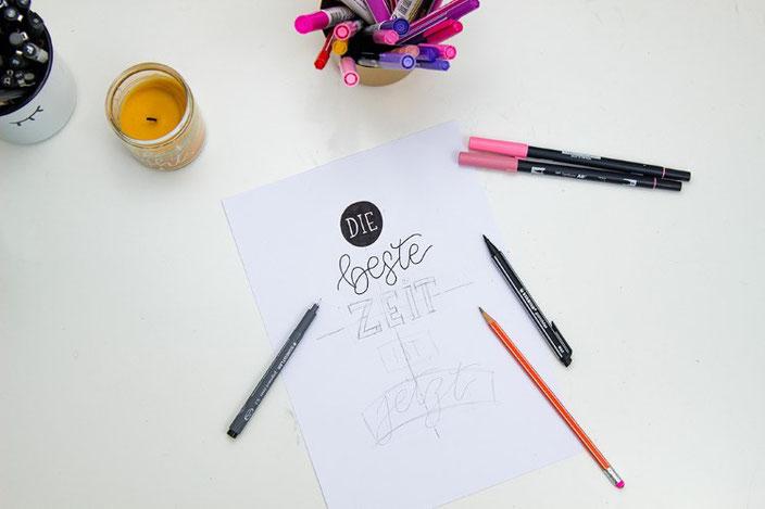 Letteringsprüche gestalten: Eine einfache Anleitung zum selber ausprobieren