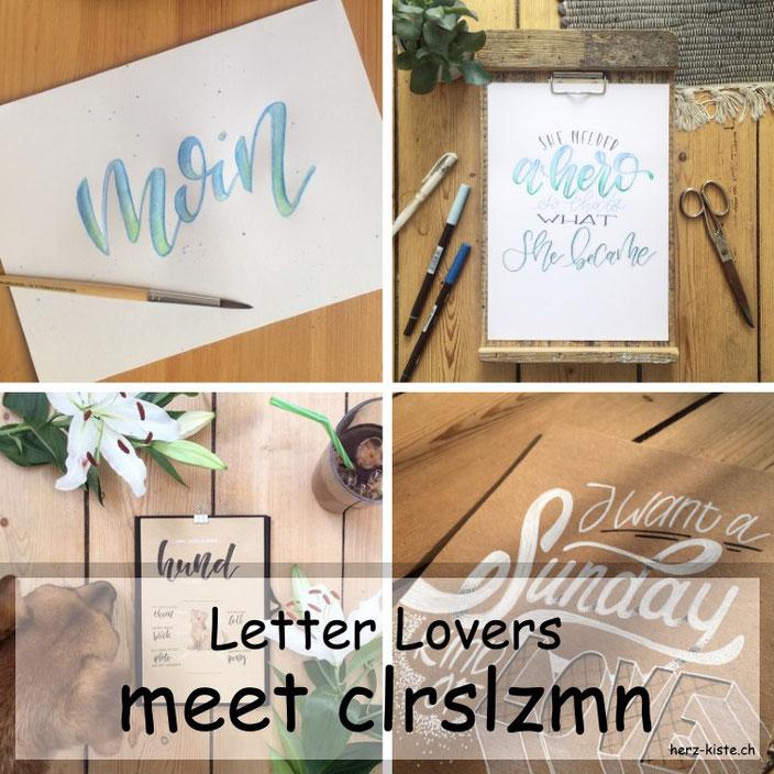 Handlettering Interview mit clrslzmn - Tipps und Tricks zum Lettering inklusive einer Anleitung für Faux Calligraphy mit aquarellierbaren Buntstiften
