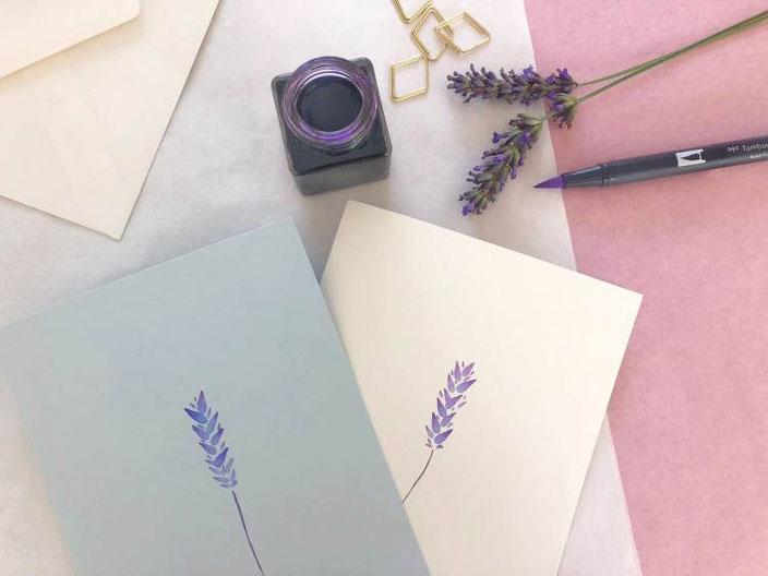 Lavendel Watercolor - herzens.dame für die Letter Lovers