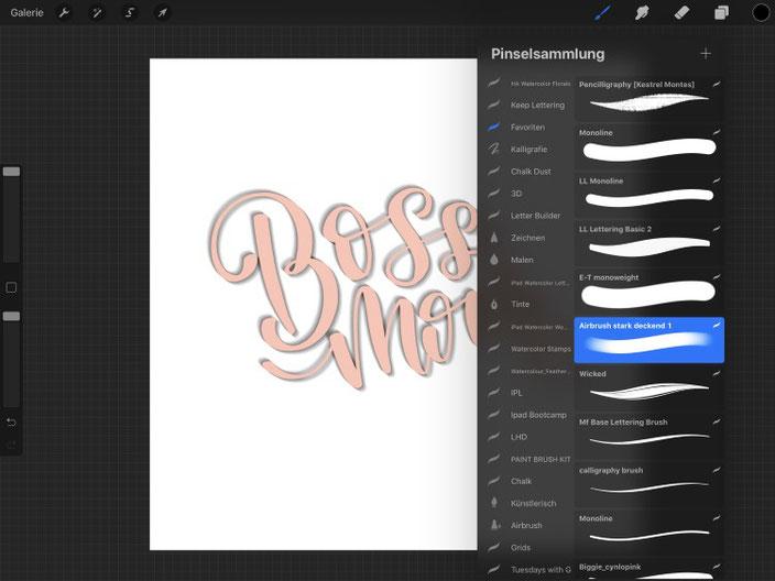 so gestaltest du ganz einfach ein digitales 3D Lettering mit Procreate