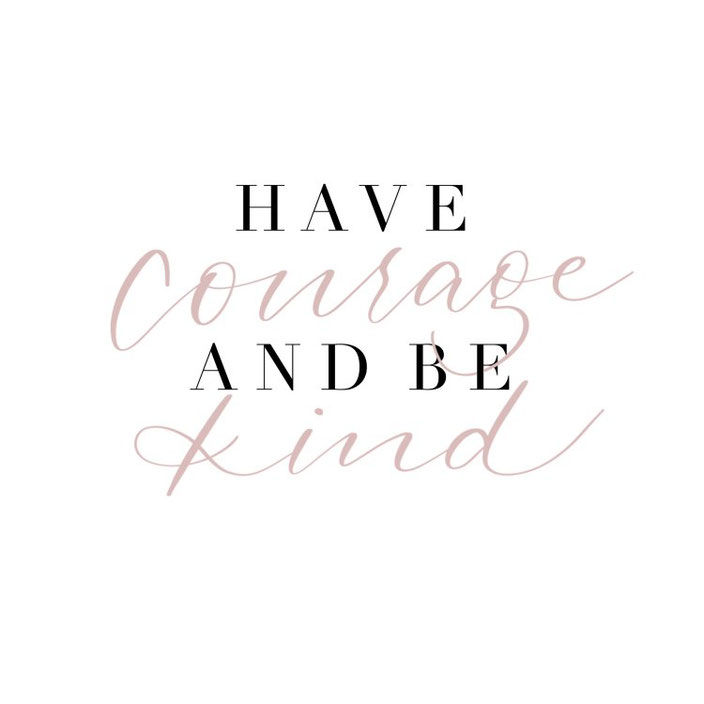 Lettering: Have courage and be kind - Handlettering von fabletters bei den Letter Lovers