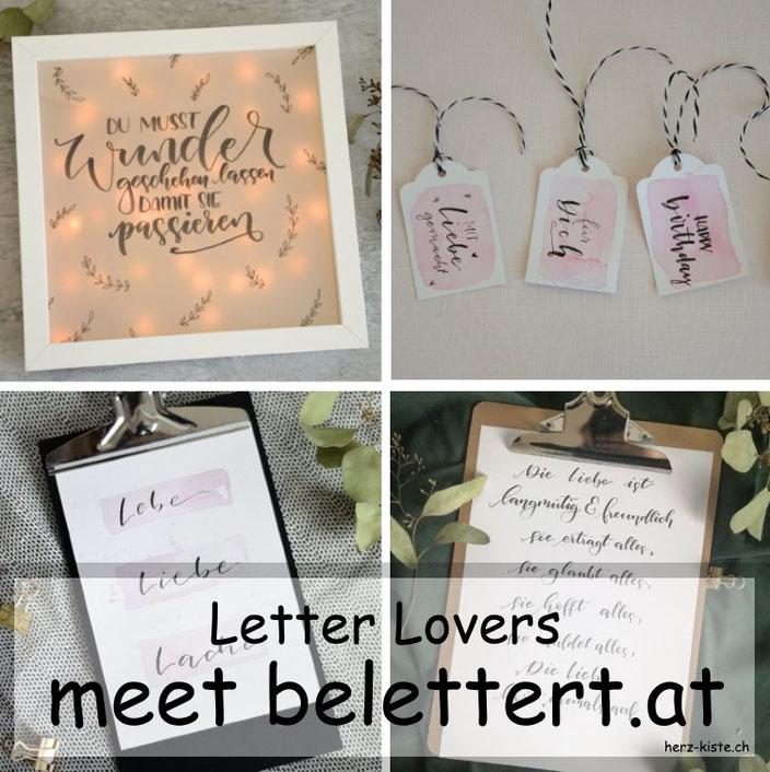 Letter Lovers - belettert.at zu Gast im Lettering Interview mit einer Anleitung für eine DIY Lightbox
