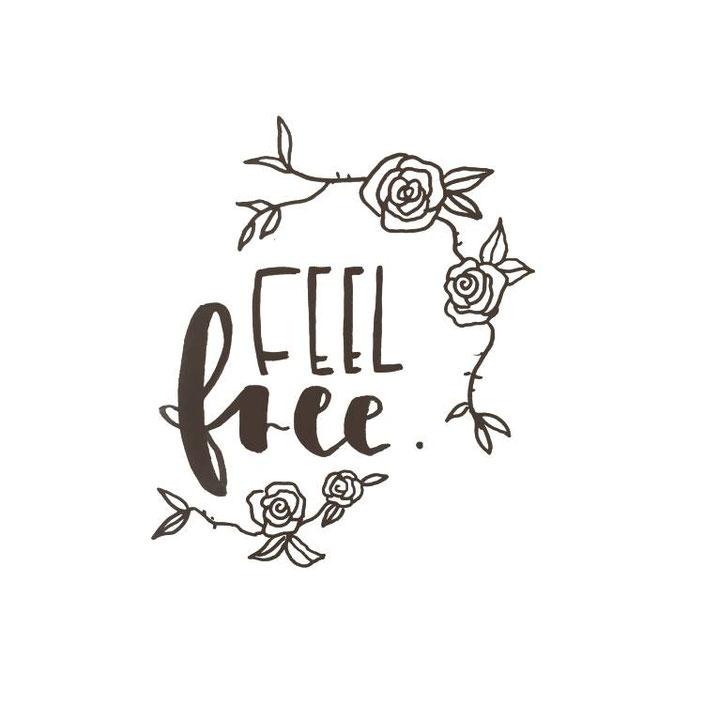feel free - Handlettering von _kreatives_k_ für die Letter Lovers