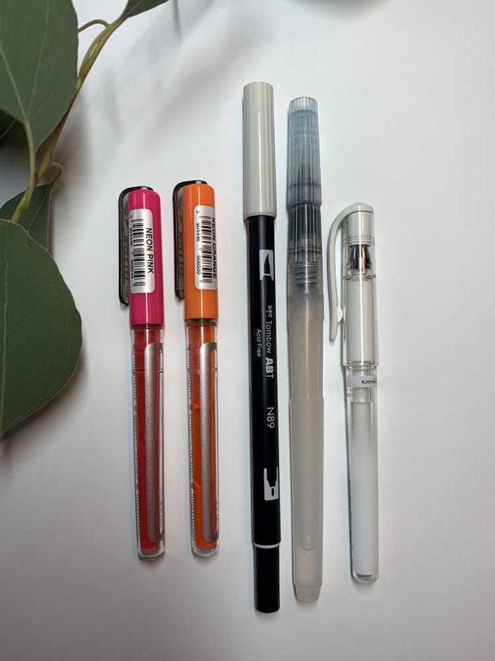 Anleitung für ein Neon Blending: Die Stifte