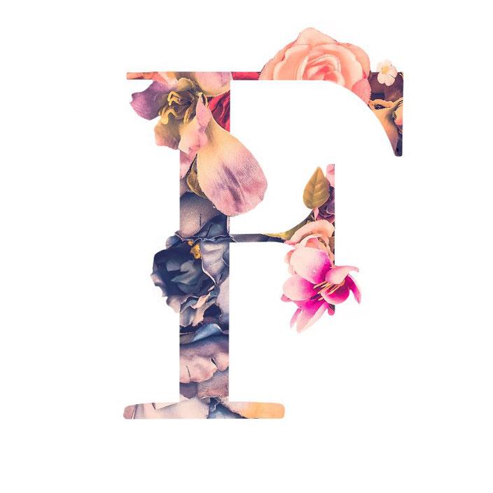 Buchstabe F - ein Lettering mit Blumen (fabletters für die Letter Lovers)