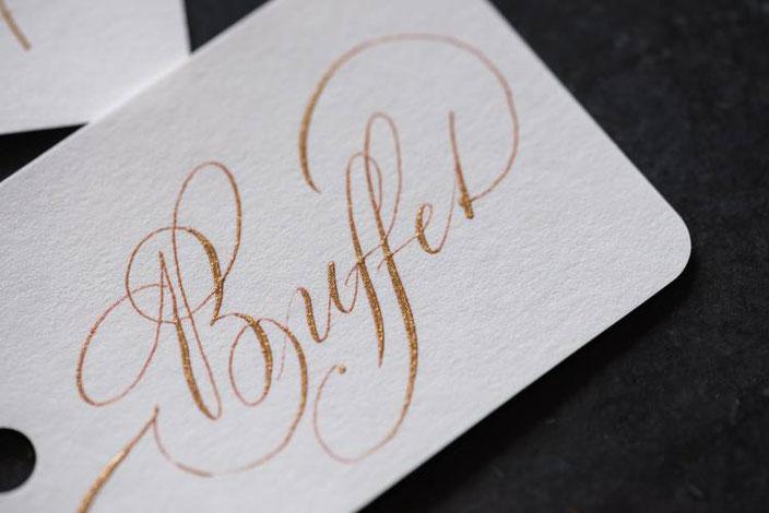 Buffet - Kalligraphie in Gold (Tintenfuchs bei den Letter Lovers)
