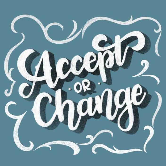 Handlettering mit Schatten: Accept or Change