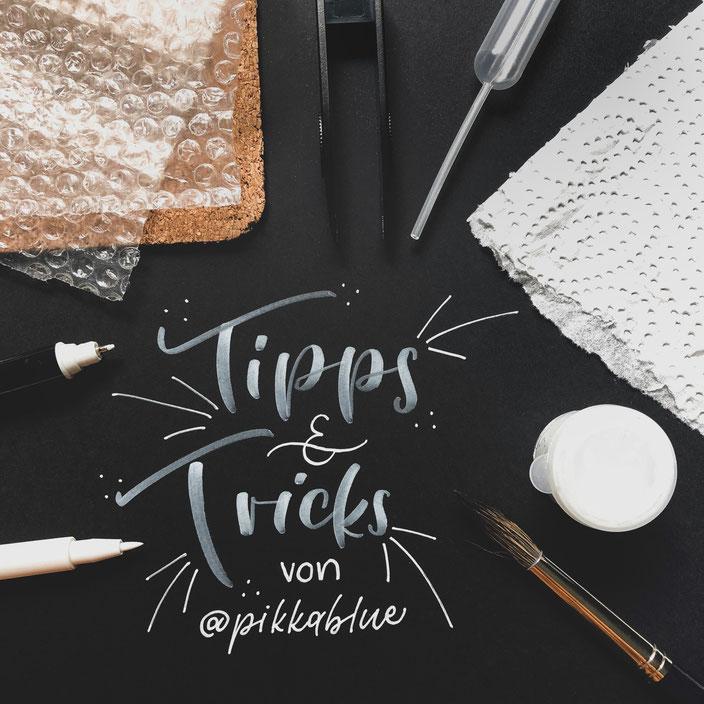 Lettering Tipps und Tricks mit pikkablue