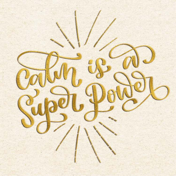 Handlettering: calm is a super power