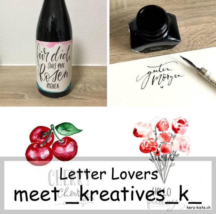 Letter Lovers - _kreatives_k_ zu Gast im Lettering Interview mit einer Anleitung für eine Flaschenbanderole mit Handlettering
