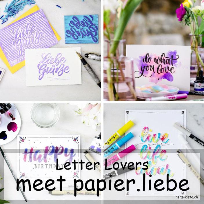 Letter Lovers - papier.liebe zu Gast im Lettering Interview mit einer Anleitung für selbstgemachte Stempel aus deinem Lettering