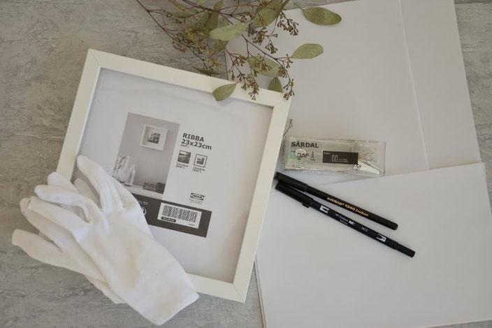 DIY Anleitung für eine selbstgemachte Lightbox - das Material