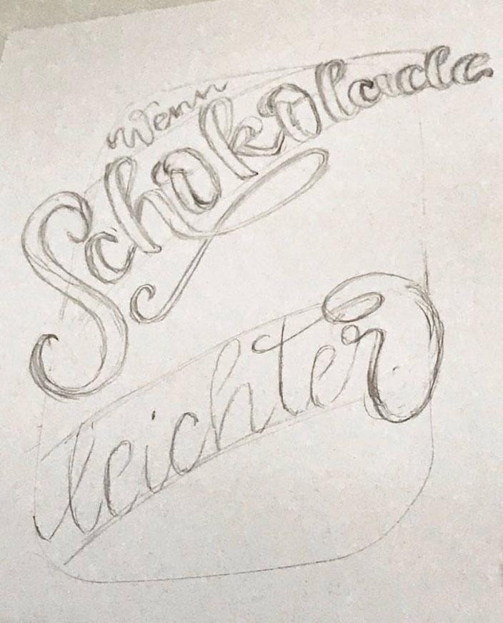 Lettering Anleitung: Wie du ganz einfach ein schönes Layout machst mit deinen Letterings - Schritt 1: Skizze