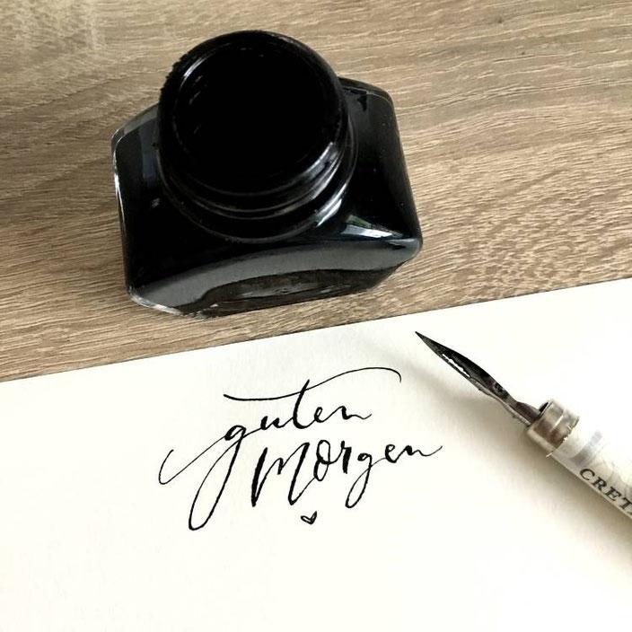 Guten Morgen - Handlettering Kalligrafie von _kreatives_k_ für die Letter Lovers