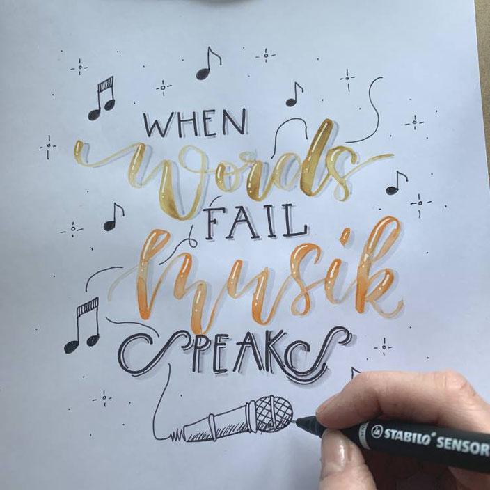 Handlettering: When words fail musik speaks