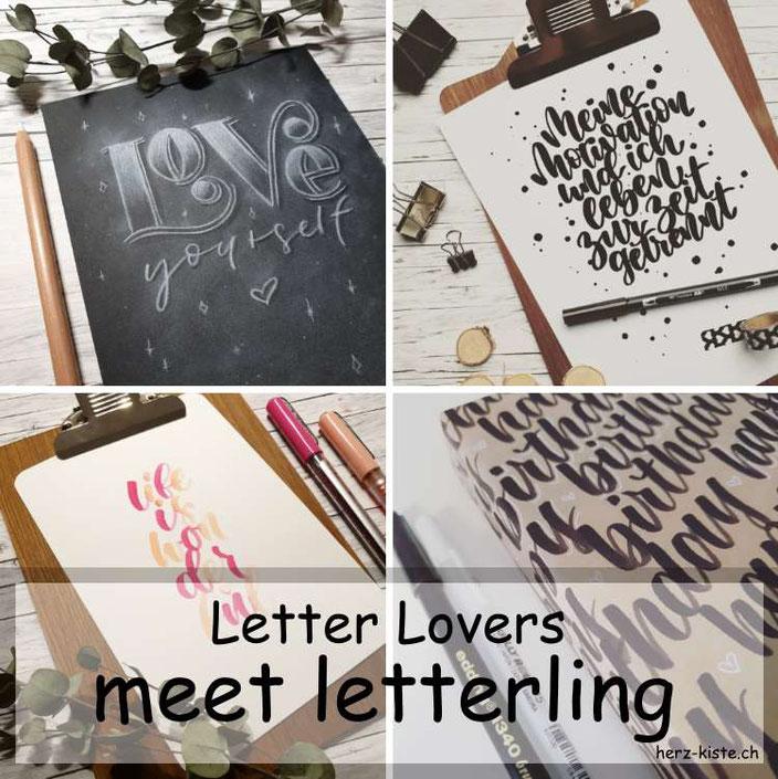 Letter Lovers - letterling zu Gast im Lettering Interview mit einer Anleitung für Kreidelettering auf Papier